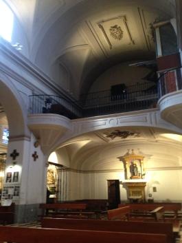 El coro de la iglesia